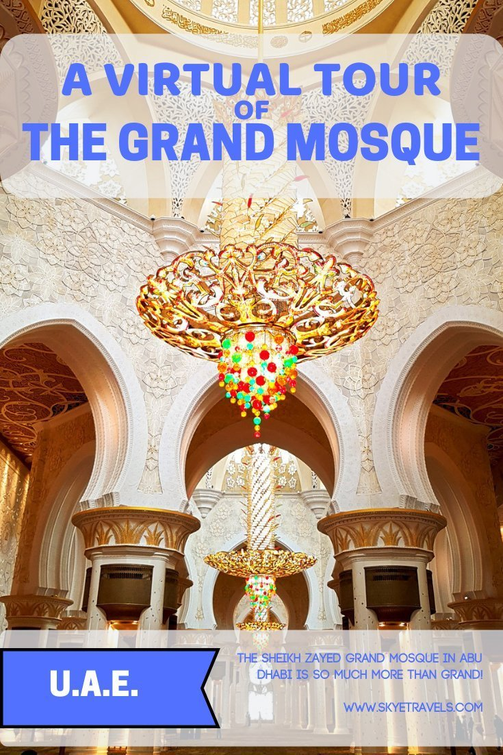 I had one primary thought when I visited the Sheikh Zayed Grand Mosque in Abu Dhabi, UAE. They need a bigger word than Grand! Magnificent? Stupendous? #GrandMsque #AbuDhabi #UAE #MiddleEast #UNESCO #UNESCOWorldHeritagSite #Mosque #ReligiousSites
